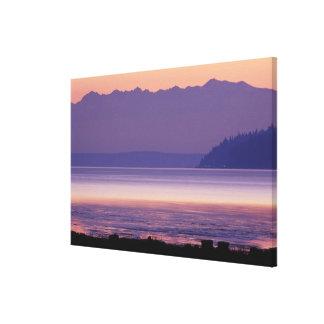 NA, USA, Washington, Conway. Olympic Mountains Canvas Print