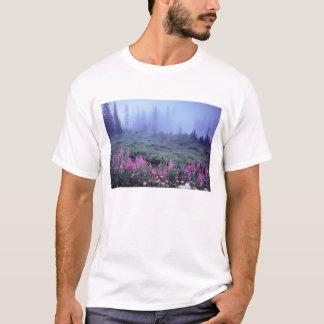 NA, USA, Washington, Foggy Alpine Meadow, Mt. T-Shirt