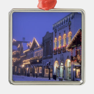 NA, USA, Washington, Leavenworth. Main Street Christmas Ornament