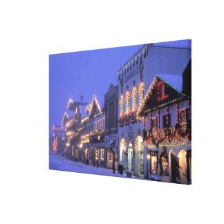 NA, USA, Washington, Leavenworth. Main Street Stretched Canvas Prints