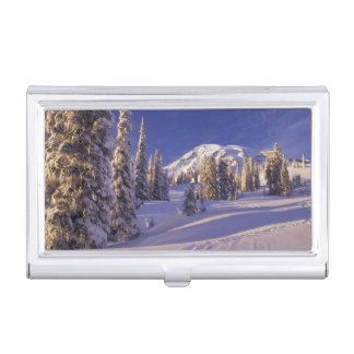 NA, USA, Washington, Mt. Rainier NP, Snowshoe Business Card Cases