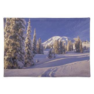 NA, USA, Washington, Mt. Rainier NP, Snowshoe Placemat