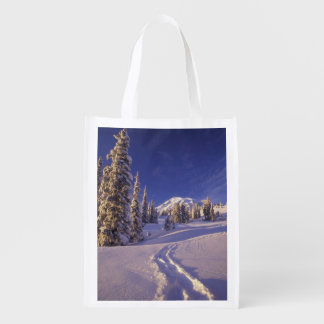 NA, USA, Washington, Mt. Rainier NP, Snowshoe Reusable Grocery Bag