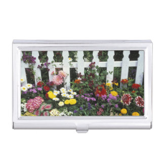 NA, USA, Washington, Sammamish, White picket Business Card Holder