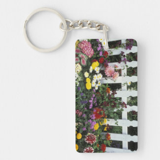 NA, USA, Washington, Sammamish, White picket Key Ring