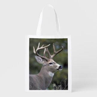 NA, USA, Washington State, White-tailed deer, Reusable Grocery Bag
