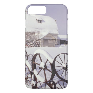 NA, USA, Washington, Uniontown, White barn and iPhone 8 Plus/7 Plus Case