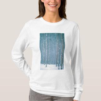 NA, USA, WY. Snowy winter scene among T-Shirt