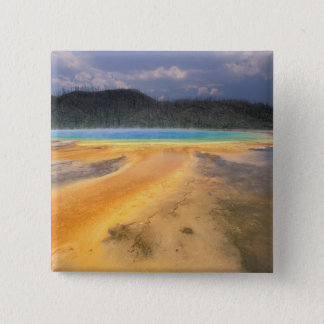 NA, USA, Wyoming, Yellowstone NP, Grand 15 Cm Square Badge