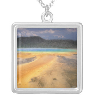 NA, USA, Wyoming, Yellowstone NP, Grand Square Pendant Necklace