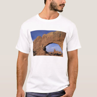 NA, Utah, Arches National Park. Double Arch T-Shirt