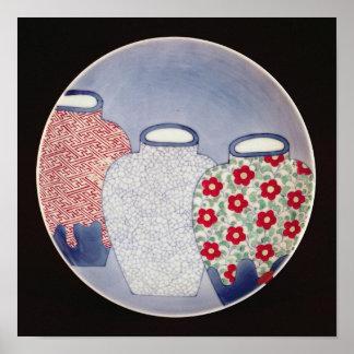 Nabeshima Dish, Edo Period Poster