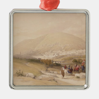 Nablous, ancient Shechem, April 17th 1839, plate 4 Christmas Ornament