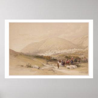 Nablous, ancient Shechem, April 17th 1839, plate 4 Poster