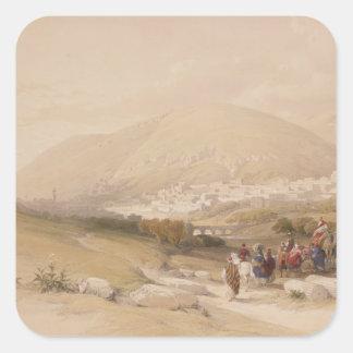 Nablous, ancient Shechem, April 17th 1839, plate 4 Square Sticker