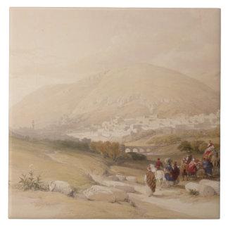 Nablous, ancient Shechem, April 17th 1839, plate 4 Tile