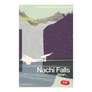 Nachi Falls Japan vintage style travel poster Customised Stationery