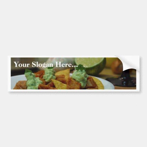 Nachos Limes Paltes Chips Garlic Kitchens Bumper Sticker