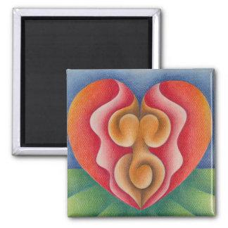 Nacimiento acuarela y lápiz de color arte. Mom. Square Magnet