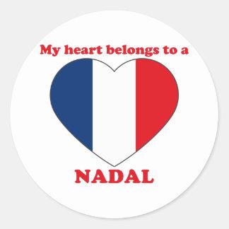 Nadal Round Sticker