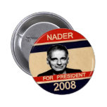 Nader For President Button