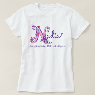 Nadia girls name & meaning N monogram shirt