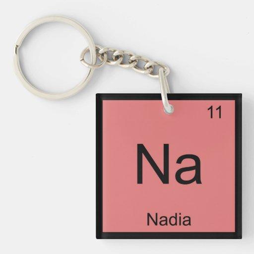 Nadia Name Chemistry Element Periodic Table Key Chain