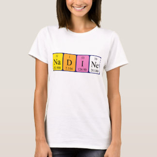 Nadine periodic table name shirt