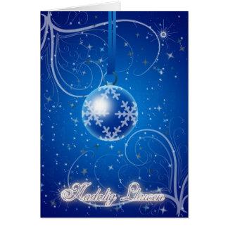 Nadolig Llawen a Blwyddyn Newydd Dda - Merry Chri Card