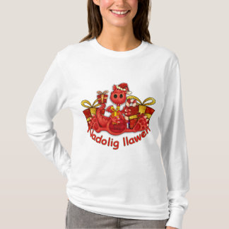 Nadolig Llawen Welsh Dragon Christmas T-Shirt