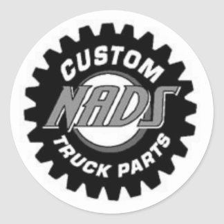 NADS Truck Parts Classic Round Sticker
