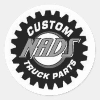 NADS Truck Parts Round Sticker