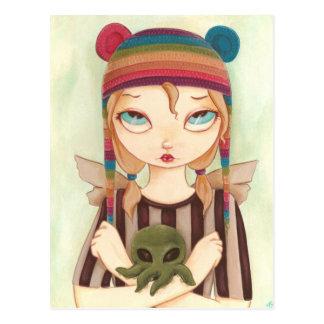 Nadya - Fairy girl Cthulhu Post Card