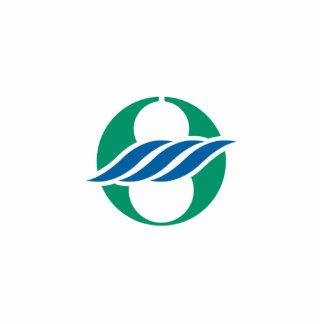 Nagahama, Shiga, Japan flag Standing Photo Sculpture