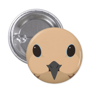 nagekibato - Mourning dove 3 Cm Round Badge