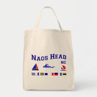 Nags Head NC Signal Flags Grocery Tote Bag