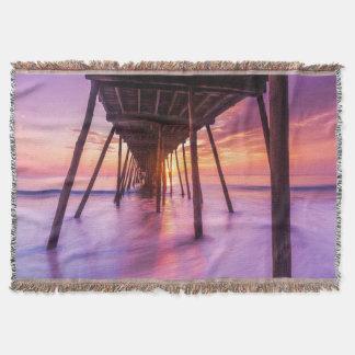 Nags Head Sunrise |North Carolina Throw Blanket