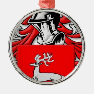 Nagy Coat of Arms Silver-Colored Round Decoration