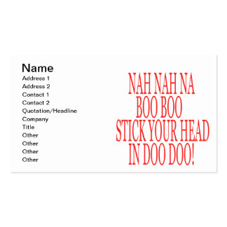 Nah Nah Double-Sided Standard Business Cards (Pack Of 100)