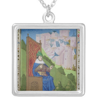 Nahum announcing the destruction of Nineveh Silver Plated Necklace