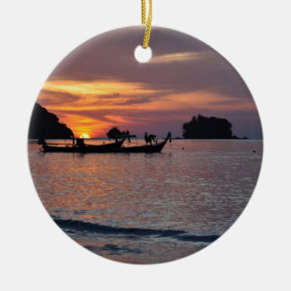 Nai Yang Beach, Phuket, Thailand sunset Christmas Ornament