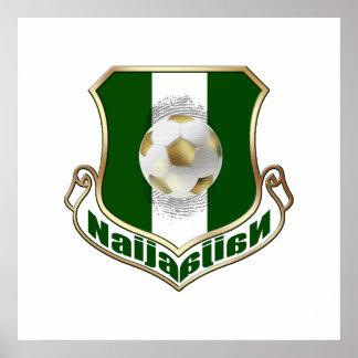 Naija soccer football emblem coat of arms print