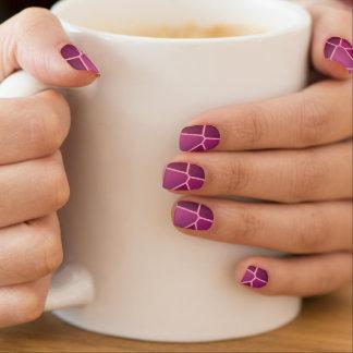 Nail Art Abstract Web Violet