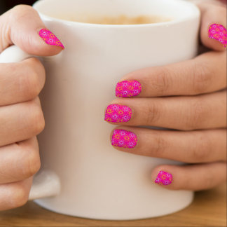 Nail Art Flowers Outline Pink