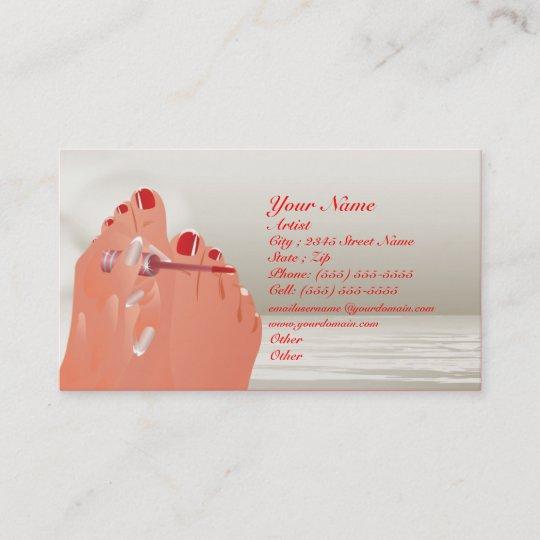 Nail Art Salon Business Card Zazzle