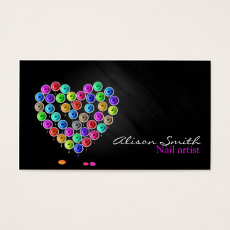 Nail Artist/Heart of Nail Polish Business Card
