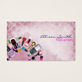 Nail Artist/Nail Polish circle Business Card