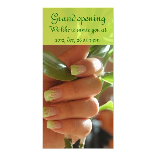 Nail Design Photo Card