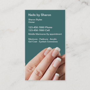 Mobile nails business cards business card printing zazzle uk nail manicure business cards reheart Images