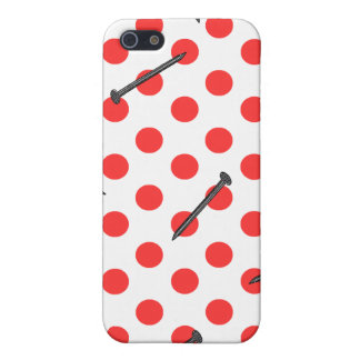 nail pattern with dots iPhone 5/5S covers